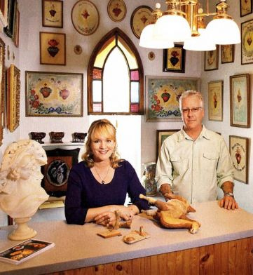 Michelle and William Marhoefer, owners of Broken Art