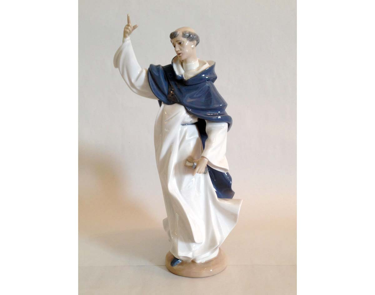 Restored monk figure