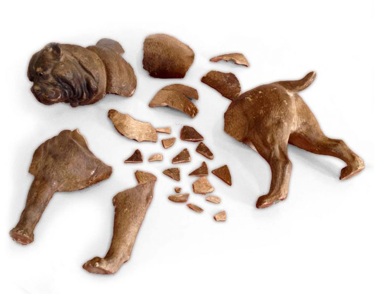 Broken Terra Cotta dog